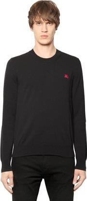 Burberry Brit , Logo Embroidered Cotton Sweater