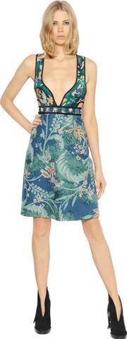 Burberry Prorsum , Quilted Floral Cotton Dress