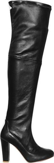 Camilla Elphick , 105mm This Is The Limit Leather Boots