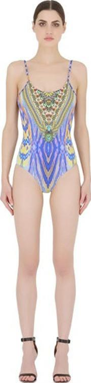 Camilla , Scoop Back Printed One Piece Swimsuit