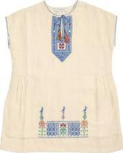 Caramel Baby And Child , Embroidered Cotton Muslin Dress