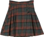 Caramel Baby And Child , Plaid Flannel High Waist Skirt