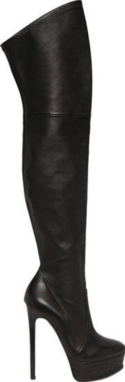 Casadei , 150mm Stretch Leather Boots