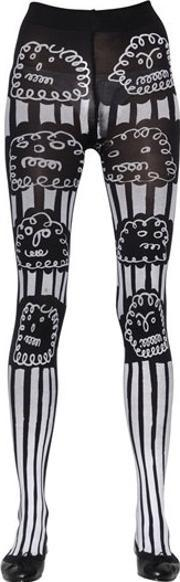 Claire Barrow , Cloud Printed Lycra Stockings