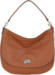 Coach Ny , Turnlock Hobo Leather Shoulder Bag