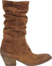 Elena Iachi , 50mm Slouched Suede Boots