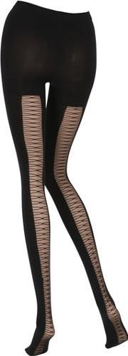 Emilio Cavallini , Lace Up Effect Microfiber Tights