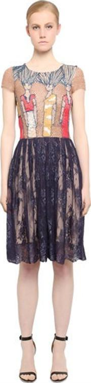 Fabiana Milazzo , Embroidered Tulle & Lace Dress