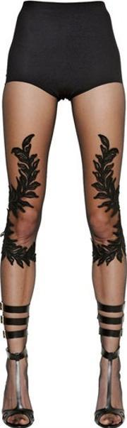 Francesco Scognamiglio , Embroidered Stretch Tulle Stockings