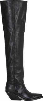 Gaia Deste , 70mm Leather Over The Knee Boots