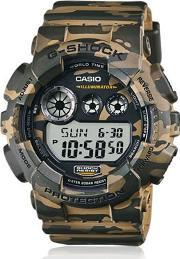 Gshock , Absolute Green Camouflage Digital Watch