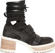 Hba Hood By Air , 60mm Suede & Leather Boots