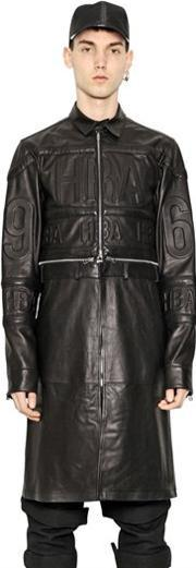 Hba Hood By Air , Convertible Embossed Leather Jacket