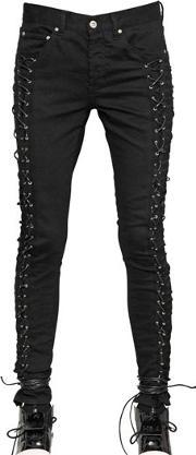 Hba Hood By Air , Lace Up Cotton Denim Jeans