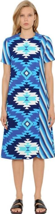 House Of Holland , Geometric Printed Crepe Wrap Shift Dress