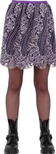 House Of Matching Colours , Embroidered Lurex Viscose Tulle Skirt