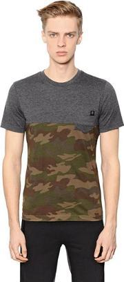 Hydrogen , Camouflage Printed Cotton T Shirt