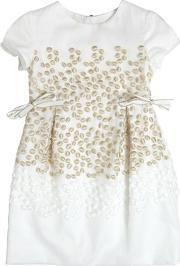 I Pinco Pallino , Lurex Embroidered Organza Party Dress
