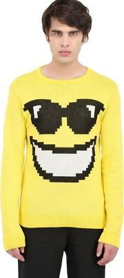 Jeremy Scott Vintage , Cool Emoticon Cotton Sweater