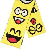Jeremy Scott Vintage , Emoticon Cotton Knit Scarf