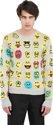 Jeremy Scott Vintage , Emoticon Cotton Knit Sweater