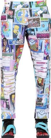 Jeremy Scott Vintage , Printed Fleece Jogging Trousers