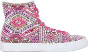 Lk , Embellished Canvas High Top Sneakers