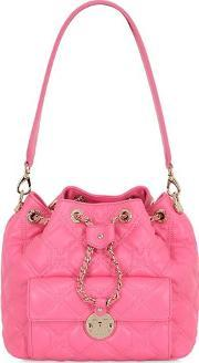 Metrocity , Small Quilted Leather Bucket Bag