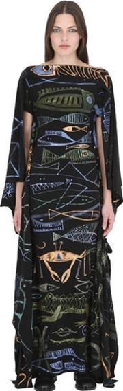 Patricia Field Art Fashion , Jody Morlock Hand Painted Fish Gown