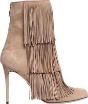 Paul Andrew , 95mm Taos Fringed Suede Boots