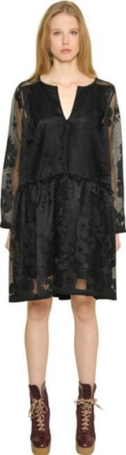See By Chloe , Floral Mesh Lace Dress