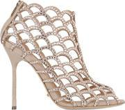Sergio Rossi , 105mm Mermaid Suede Cage Boots