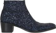 Simon Fournier , 50mm Glittered Leather Ankle Boots