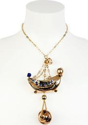 Sonia Boyajian , Gypsy Circus Gold Plated Necklace