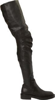 Strategia , 30mm Faux Leather & Leather Boots