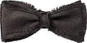 Title Of Work , Raw Cut & Beaded Silk Bow Tie