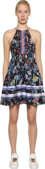 Tommy Hilfiger Collection , Floral Printed Silk Dress