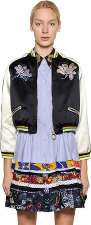 Tommy Hilfiger Collection , Mustique Souvenir Silk Satin Bomber