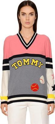 Tommy Hilfiger Collection , Patchwork Knit Sweater