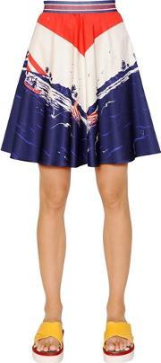Tommy Hilfiger Collection , Printed Cotton Satin Skirt
