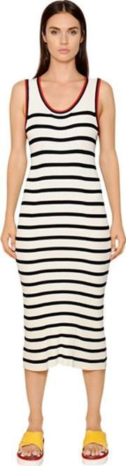 Tommy Hilfiger Collection , Striped Ribbed Knit Dress