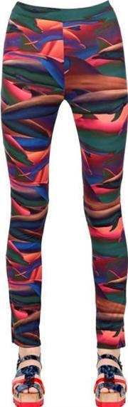 Tothem , Dolphin Printed Stretch Lycra Leggings