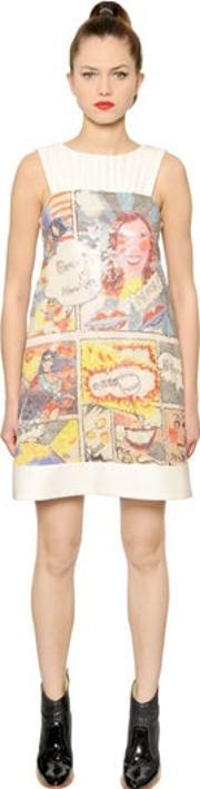 Tsumori Chisato , Comic Printed & Sequined Twill Dress
