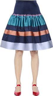 Tsumori Chisato , Striped Techno Jacquard Skirt
