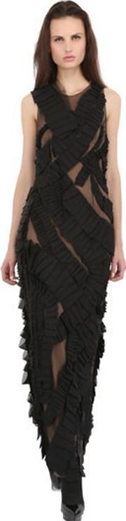 Vera Wang , Swirling Silk Chiffon Swift Dress