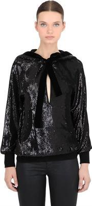 Veronique Branquinho , Hooded Sequined Sweatshirt