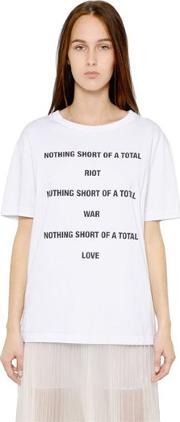Yang Li , Nothing Short Of Printed Cotton T Shirt