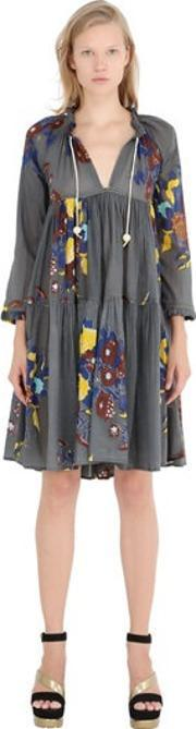Yvonne S , Floral Cotton Voile Dress