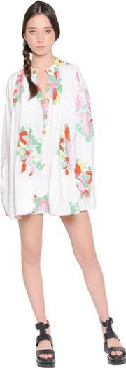 Yvonne S , Floral Printed Cotton Shirt Dress