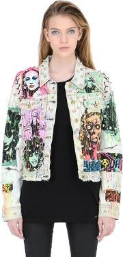 Patricia Field Art Fashion , Tom Tom Queen Of The Night Denim Jacket